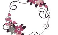 花と黒い蝶・ホワイト 裏面