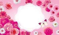 花いっぱい・ピンク 裏面