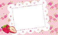 いちご&花柄クロス・ピンク 裏面