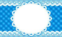 シンプルレース・ブルー(写真あり) 裏面