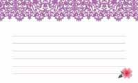 花とイニシャル・紫  裏面