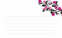 花と蝶シルエット・ピンク  裏面