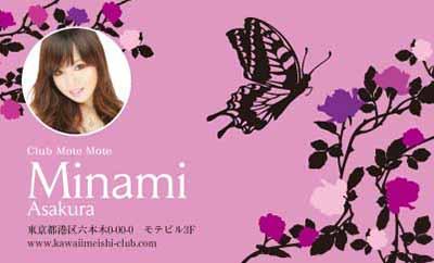 花と蝶シルエット・スミレ色(写真あり)