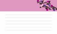 花と蝶シルエット・スミレ色  裏面