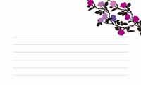 花と蝶シルエット・バイオレット(写真あり) 裏面