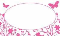 草花と蝶・ピンク  裏面