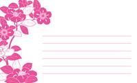 和の花もよう・ピンク 裏面