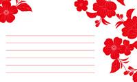 和の花もよう・赤(写真あり) 裏面