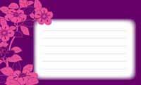 和の花もよう・紫とピンク 裏面