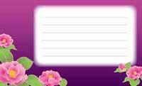 花をまとって・紫とツバキ(写真あり) 裏面