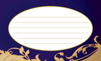 金の波・ブルー(写真あり) 裏面