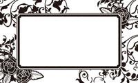 花とツタモノトーン・黒 裏面