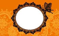 蝶とレース・オレンジ(写真あり) 裏面