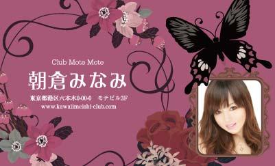花と黒い蝶・レッド(写真あり)