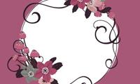 花と黒い蝶・レッド(写真あり) 裏面
