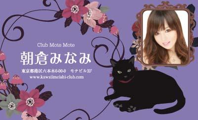 花と黒ネコ・バイオレット(写真あり)