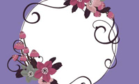 花と黒ネコ・バイオレット(写真あり) 裏面