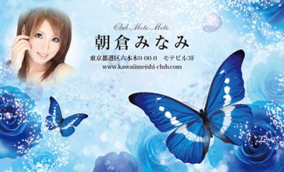 花と蝶・ブルー(写真あり)