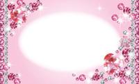 キラキラデコフレーム・ホワイトピンク(写真あり) 裏面