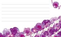花とパール・バイオレット(写真あり) 裏面