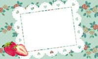 いちご&花柄クロス・グリーン(写真あり) 裏面