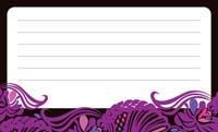 花と波アンティーク・ブラック(写真あり) 裏面