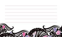 花と波アンティーク・ピンク(写真あり) 裏面