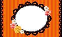 花とストライプ・オレンジ 裏面