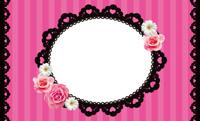 花とストライプ・ピンク(写真あり) 裏面