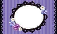 花とストライプ・バイオレット(写真あり) 裏面