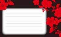 和の花もよう・黒と赤 裏面