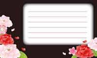 花をまとって・黒と牡丹 (写真あり) 裏面