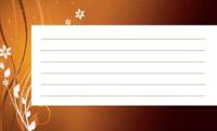 曲線と花・オレンジ(写真あり) 裏面