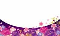 華やか牡丹・紫 裏面